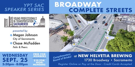 YPT Speaker Series: Broadway Complete  Streets tickets
