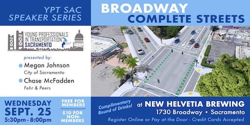 YPT Speaker Series: Broadway Complete  Streets