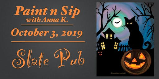 Paint n Sip- At the Slate Pub