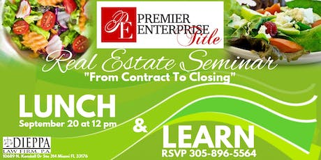 "Real Estate Seminar ""From Contract To Closing"" tickets"