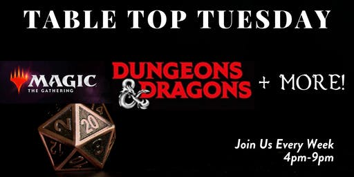 Ocean5 Table Top Tuesdays Premium D&D Game