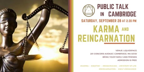 Public Talk in Cambridge - Karma and Reincarnation tickets