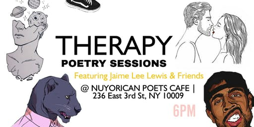 THERAPY Poetry Sessions Featuring Jaime Lee Lewis & Friends