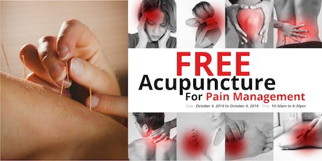 Free Acupuncture For Pain Management tickets