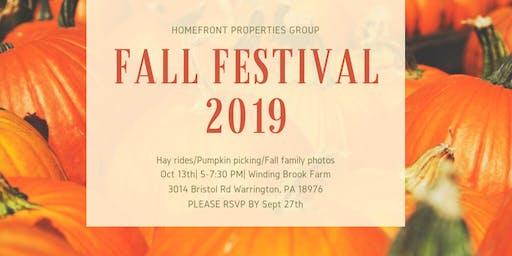 Homefront Properties Group Fall Fest 2019