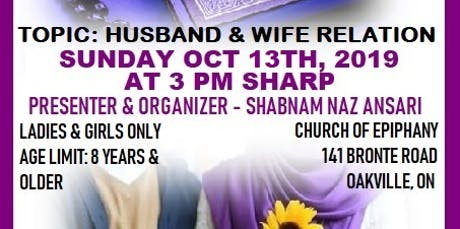 Understand Quranic Ayahs- Husband & Wife Relation tickets