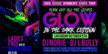 Caribbean Saturdays DJ NORIE LIVE Power 105 Glow Party | Dancehall Invasion| Bring ya best whine!  | Free Entry, Jerk chicken & Rum Punch | Hookah |  tickets