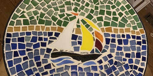 Mosaic Sailboat Patio Table 2-day Workshop
