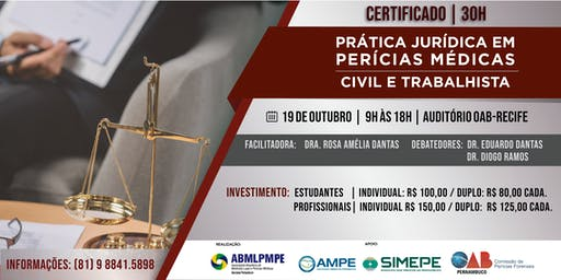 PRÁTICA JURÍDICA EM PERÍCIAS MÉDICAS  - CIVIL E TRABALHISTA