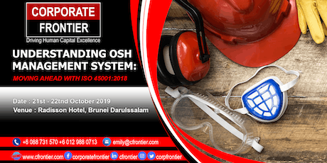 Understanding OSH Management System : Moving Ahead With ISO 45001: 2018 tickets