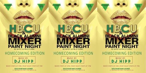 "HBCU & Black Alumni Mixer Paint Night ""Homecoming Edition"""