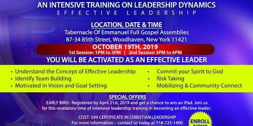 Leadership Intensive Training - Take the Lead to Expand