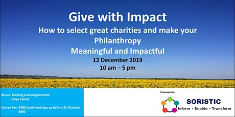 Give Wisely - Select Great Charities and make your Philanthropy Impactful tickets