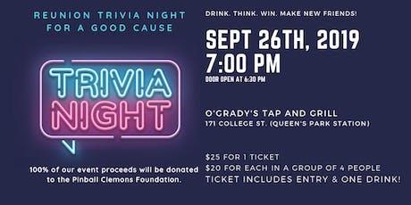 REUNION TRIVIA NIGHT tickets