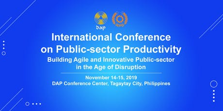 APO International Conference on Public-sector Productivity 2019 tickets