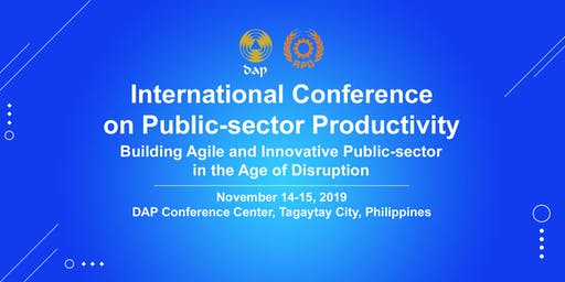 APO International Conference on Public-sector Productivity 2019