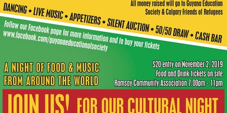 Guyana Educational Society and Calgary Friends of Refugees Fundraiser tickets
