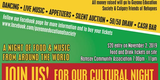Guyana Educational Society and Calgary Friends of Refugees Fundraiser