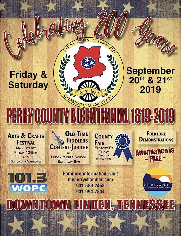 Perry County TN Bicentennial Festival Arts & Craft Vendor Registration image