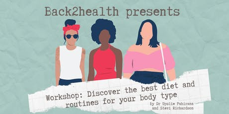 Workshop: Discover the best diet and routines for your body type tickets