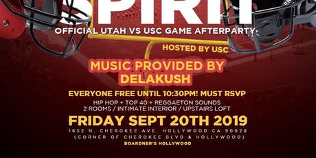 Utah V USC Official After Party  tickets