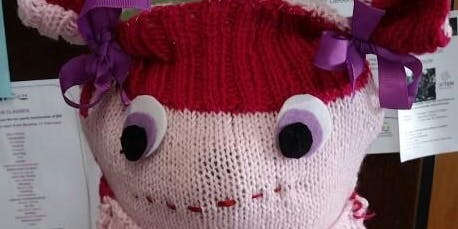 Creating a Wonderful hat by adding buttons and ribbons @ Westbury Library