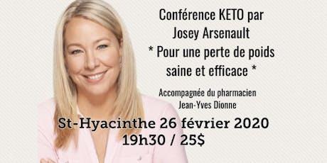 ST-HYACINTHE - Conférence KETO - Pour une perte de poids saine et efficace!  tickets