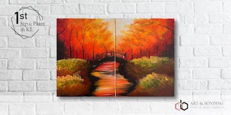 Sip & Paint Date Night : Bridge Under The Autumn Trees tickets