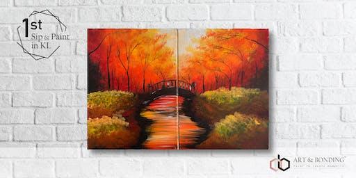 Sip & Paint Date Night : Bridge Under The Autumn Trees