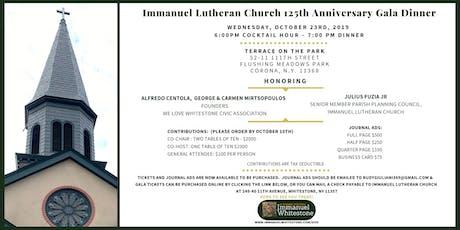 Immanuel Lutheran Church Gala Dinner - 125th Anniversary tickets