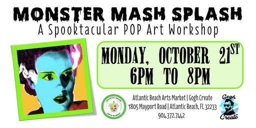 Monster Mash Splash - A Spooktacular POP Art Workshop