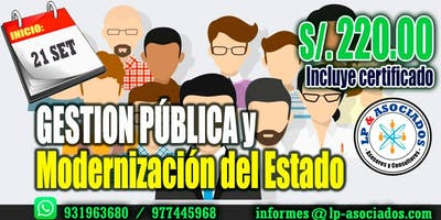Gestión Publica y Modernización del Estado (S/. 220.00)