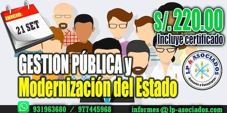 Gestión Publica y Modernización del Estado (S/. 220.00) entradas