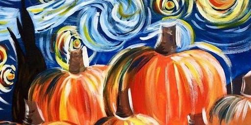Van Gogh inspired Pumpkins