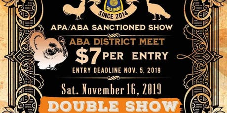 Klein Poultry Extravaganza, Double Show, APA & ABA Sanctioned tickets