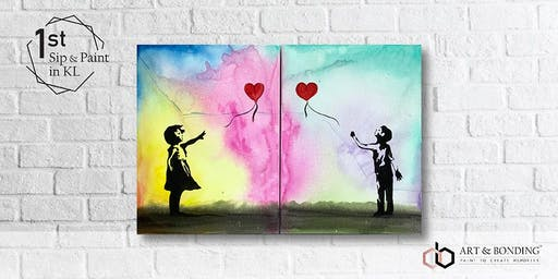 Sip & Paint Date Night : Banksy's Balloon Girl & Boy