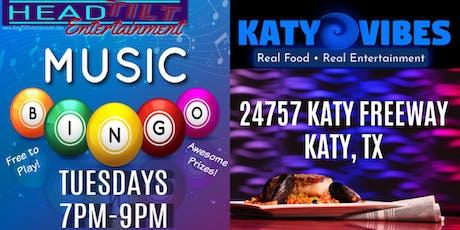 Music Bingo at Katy Vibes - Katy, TX tickets