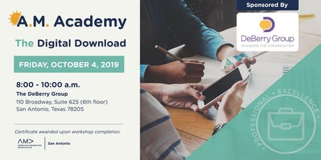 The Digital Download –A.M. Academy Workshop tickets
