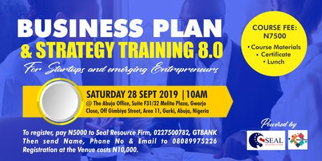 BUSINESS PLAN AND STRATEGY TRAINING 8TH EDITION (BPST 8.0) tickets