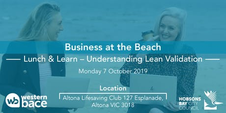 Beachside Lunch and Learn: Understanding Lean Validation tickets