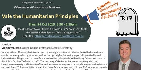 Vale the Humanitarian Principles  tickets
