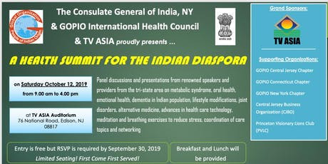 The Consulate General of India NY,GOPIO & TV ASIA presents:A Health Summit  tickets