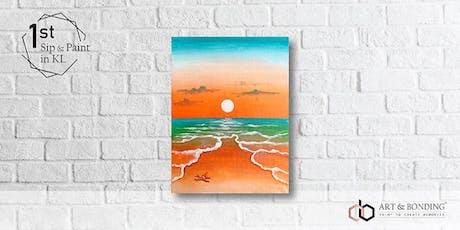 Sip & Paint Night : Orange Sea tickets