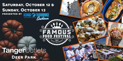"event image Famous Food Festival ""Taste the World"" October 12 + 13th @ Tanger Outlets in Deer Park, NY"
