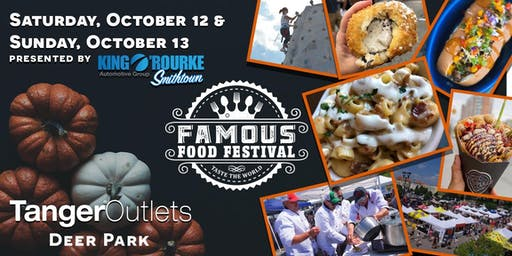 "Famous Food Festival ""Taste the World"" October 12 + 13th @ Tanger Outlets in Deer Park, NY"