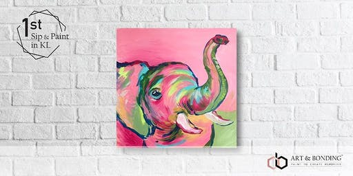 Sip & Paint Night : Colorful Baby Elephant