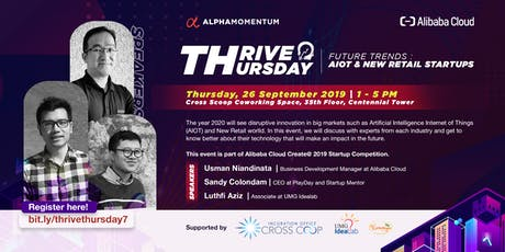 Thrive Thursday : AIOT & New Retail Industry by Alpha Momentum tickets