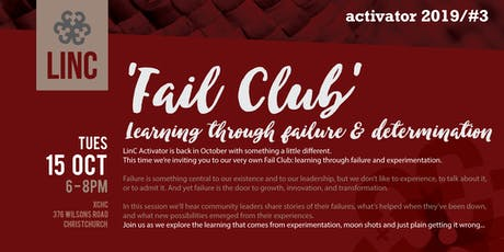 LinC Activator #3: Fail Club - learning through failure and experimentation tickets