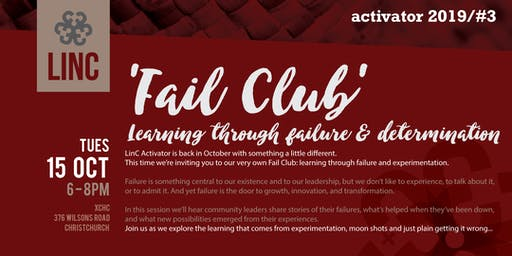 LinC Activator #3: Fail Club - learning through failure and experimentation