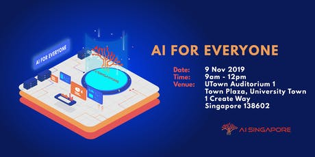 AI for Everyone (9 November 2019) tickets